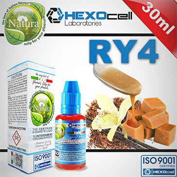 30ml RY4 3mg eLiquid (With Nicotine, Very Low) - Natura eLiquid by HEXOcell