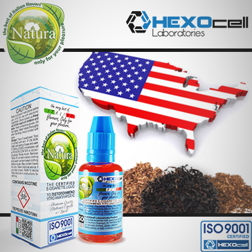 30ml AMERICANO 18mg Υγρό Αναπλήρωσης ( Με Νικοτίνη, Ισχυρό) - Natura Υγρά Αναπλήρωσης από την HEXOcell
