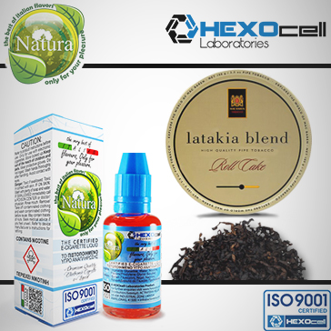 30ml LATAKIA 18mg Υγρό Αναπλήρωσης ( Με Νικοτίνη, Ισχυρό) - Natura Υγρά Αναπλήρωσης από την HEXOcell