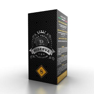 20ml PLATINUM RISERVA / DESERT 8mg eLiquid (With Nicotine, Low) - eLiquid by Puff Italia