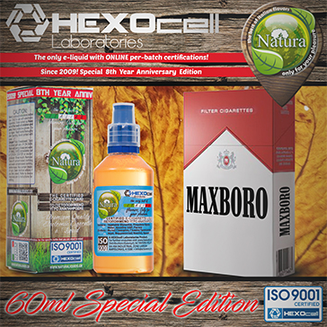 60ml MAXBORO SPECIAL EDITION 18mg High VG eLiquid (With Nicotine, Strong) - Natura eLiquid by HEXOcell
