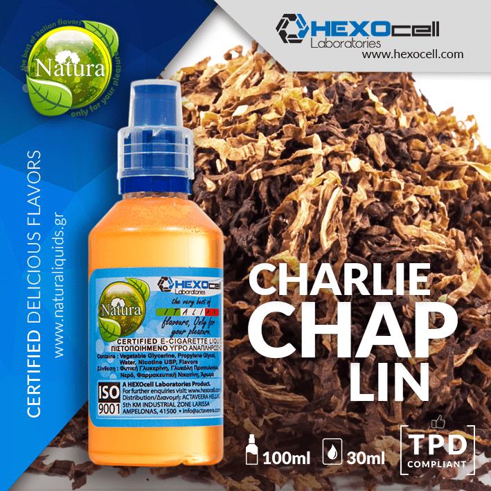 MIX & SHAKE - NATURA 30/60ML - CHARLIE CHAPLIN (ΑΠΑΛΟΣ & ΚΑΘΑΡΟΣ ΚΑΠΝΟΣ)