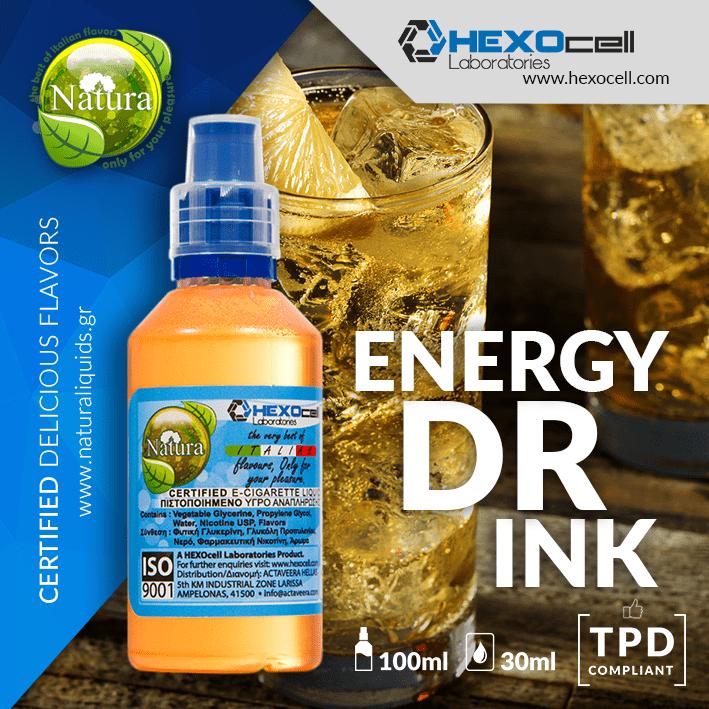 MIX & SHAKE - NATURA 30/60ML - ENERGY DRINK (ΕΝΑΛΛΑΚΤΙΚΟ ΕΝΕΡΓΕΙΑΚΟ ΠΟΤΟ)