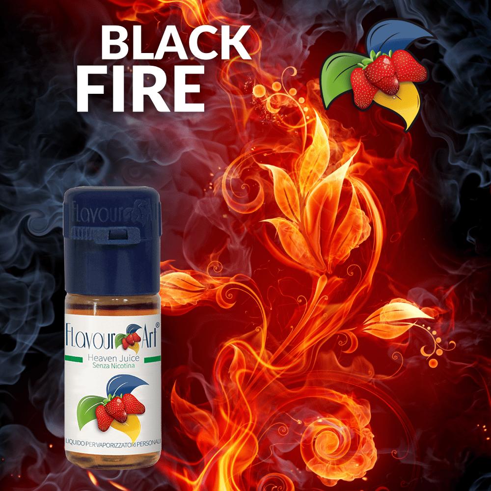 ELIQUID - 10ML - FLAVOURART ITALY - BLACK FIRE ( ΚΑΠΝΟΣ & ΚΑΡΑΜΕΛΑ ) 9mg