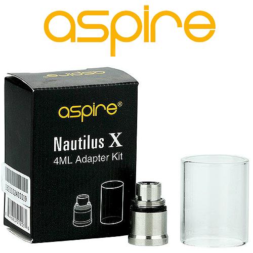 ΑΤΜΟΠΟΙΗΤΗΣ - ΤΖΑΜΑΚΙ ASPIRE NAUTILUS X 4ML + ΑΝΤΑΠΤΟΡΑΣ (ΔΙΑΦΑΝΟ)