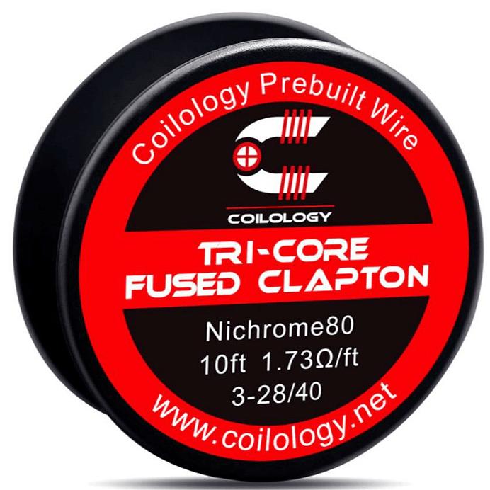 ΑΤΜΟΠΟΙΗΤΗΣ - ΣΥΡΜΑ COILOLOGY TRI-CORE FUSED CLAPTON Ni80 WIRE ( 3x 28GA + 40GA )( 1.73 ohm ) - 3M