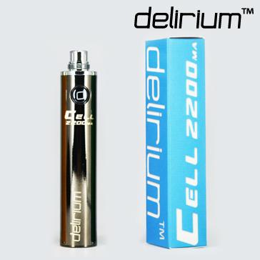 ΜΠΑΤΑΡΙΑ - DELIRIUM CELL 2200mA eGo/eVod Υψηλής ποιότητας ( ΜΑΥΡΗ ΜΕΤΑΛΛΙΚΗ )
