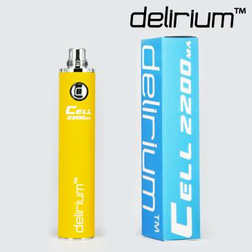 ΜΠΑΤΑΡΙΑ - DELIRIUM CELL 2200mA eGo/eVod Υψηλής ποιότητας ( ΚΙΤΡΙΝΗ )