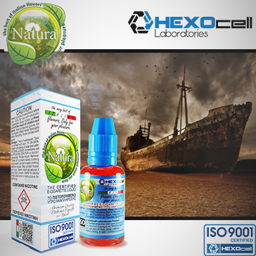 30ml DESERT SHIP 18mg eLiquid (With Nicotine, Strong) - Natura eLiquid by HEXOcell